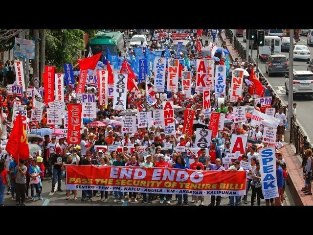 Thousands gather at Mendiola for Labor Day rally