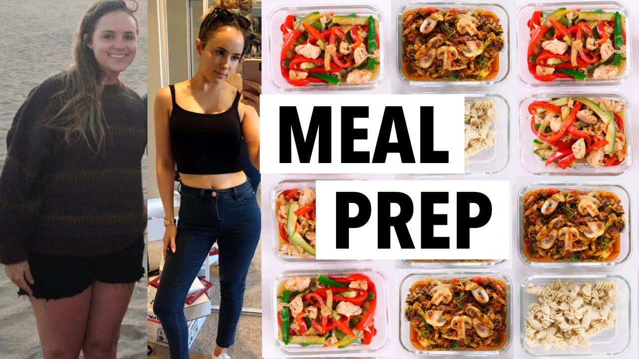 WEIGHT LOSS MEAL PREP WEEK FOR WOMEN (1 WEEK IN 1 HOUR)   how I lost 50+ lbs