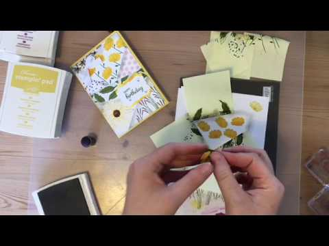 Daisy Delight #4, Retiform Technique, Patchwork look card - Stampin' Up
