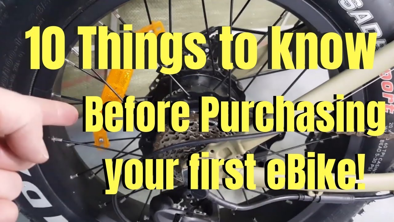 10 things to know before purchasing an eBike in 2019