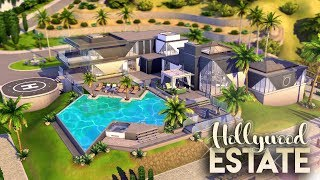 HOLLYWOOD ESTATE + ALL CC LINKS || 4 Bdr + 4 Bth Luxury Estate || The Sims 4: CC Speed Build
