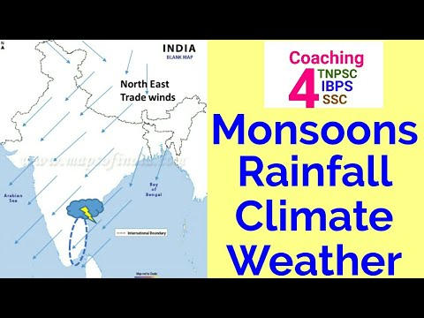 Monsoons,Rainfall,Climate & Weather TNPSC Geography for Group Exams