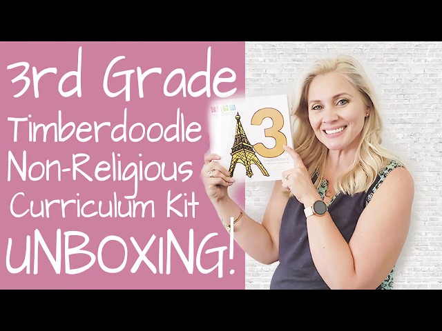 3RD GRADE NON-RELIGIOUS HOMESCHOOL KIT CURRICULUM UNBOXING TIMBERDOODLE