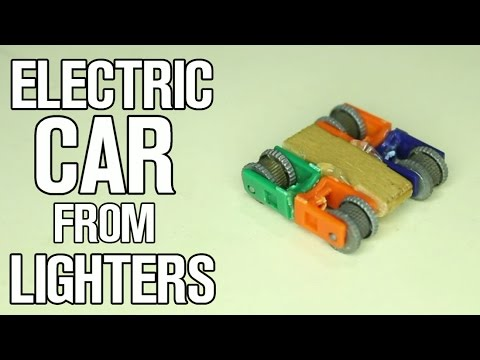 How To Make Electric Car from Lighters!