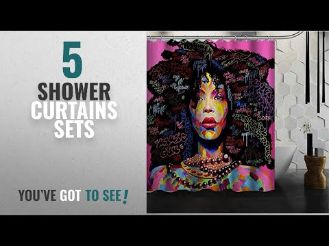 Top 10 Shower Curtains Sets [2018]: Afro Girl Character Shower Curtains Mildew Resistant Waterroof