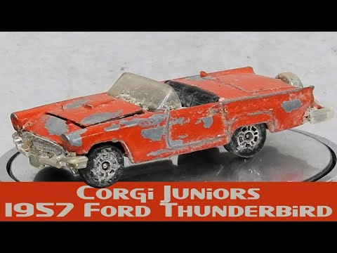 1950s American Dream '57 Ford Thunderbird Custom Restoration Corgi Juniors