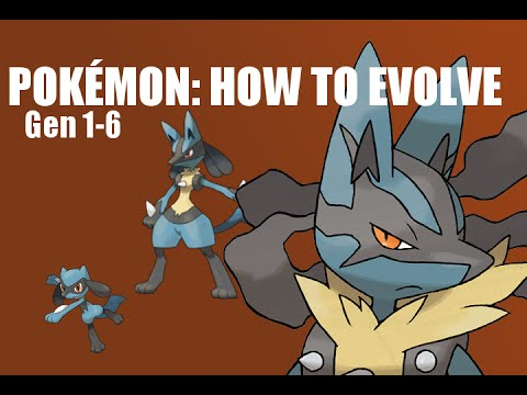 Pokémon: How to Evolve - All Evolution Lines (Generation 1-6)*