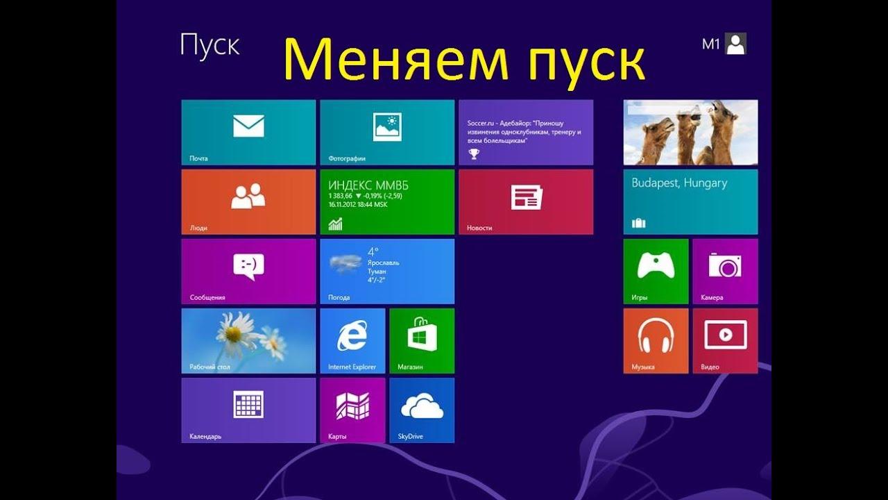 Как сделать пуск в windows 8.1 как в windows 7