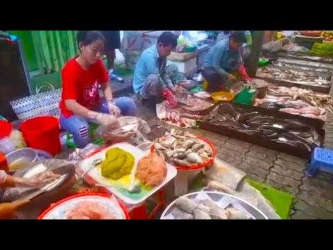Wet Market In Cambodia 2019 - Amazing Street Food In Phnom Penh Village Food