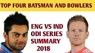 SUMMARY OF ENGLAND VS INDIA ODI SERIES 2018