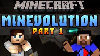 Minecraft MINEVOLUTION CHALLENGE #1 with Vikkstar & Ali A (Minecraft Mini-Game)