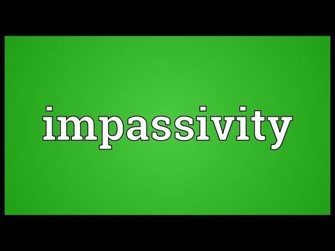 Header of impassivity