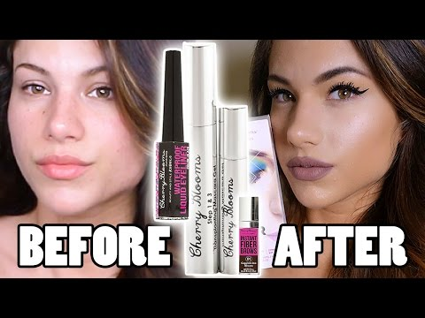 NEW CHERRY BLOOMS Fiber Mascara, Instant Brows & Waterproof Liner | First Impressions Review & Demo