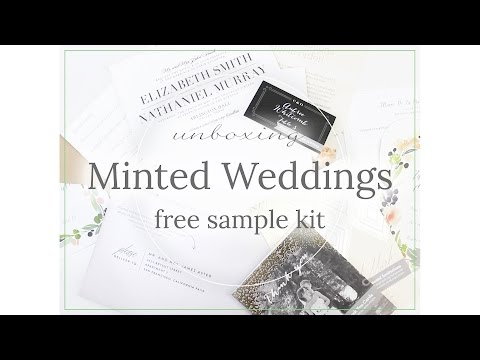 Minted Weddings *Free* Sample Kit Unboxing