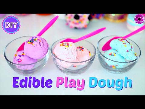 DIY EDIBLE PLAY DOUGH! 2 INGREDIENT PLAY DOH!