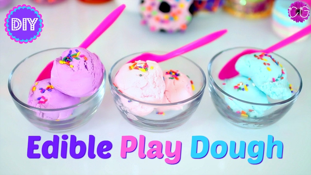 How to Make Edible Play Dough and Finger Paint