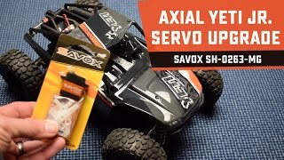 "While the Axial Yeti Jr. Rock Racer is a great 1/18-scale ""fun runner"", the steering servo performance has room for improvement. After looking at my options, ..."
