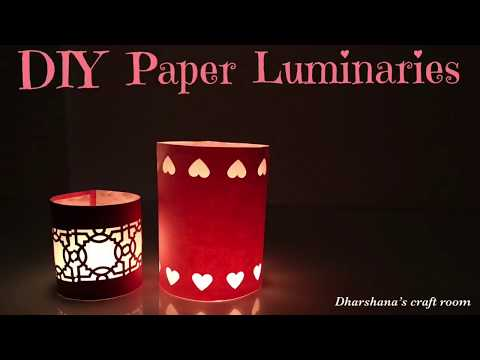 DIY paper luminaire / DIY home decor/DIY paper lantern