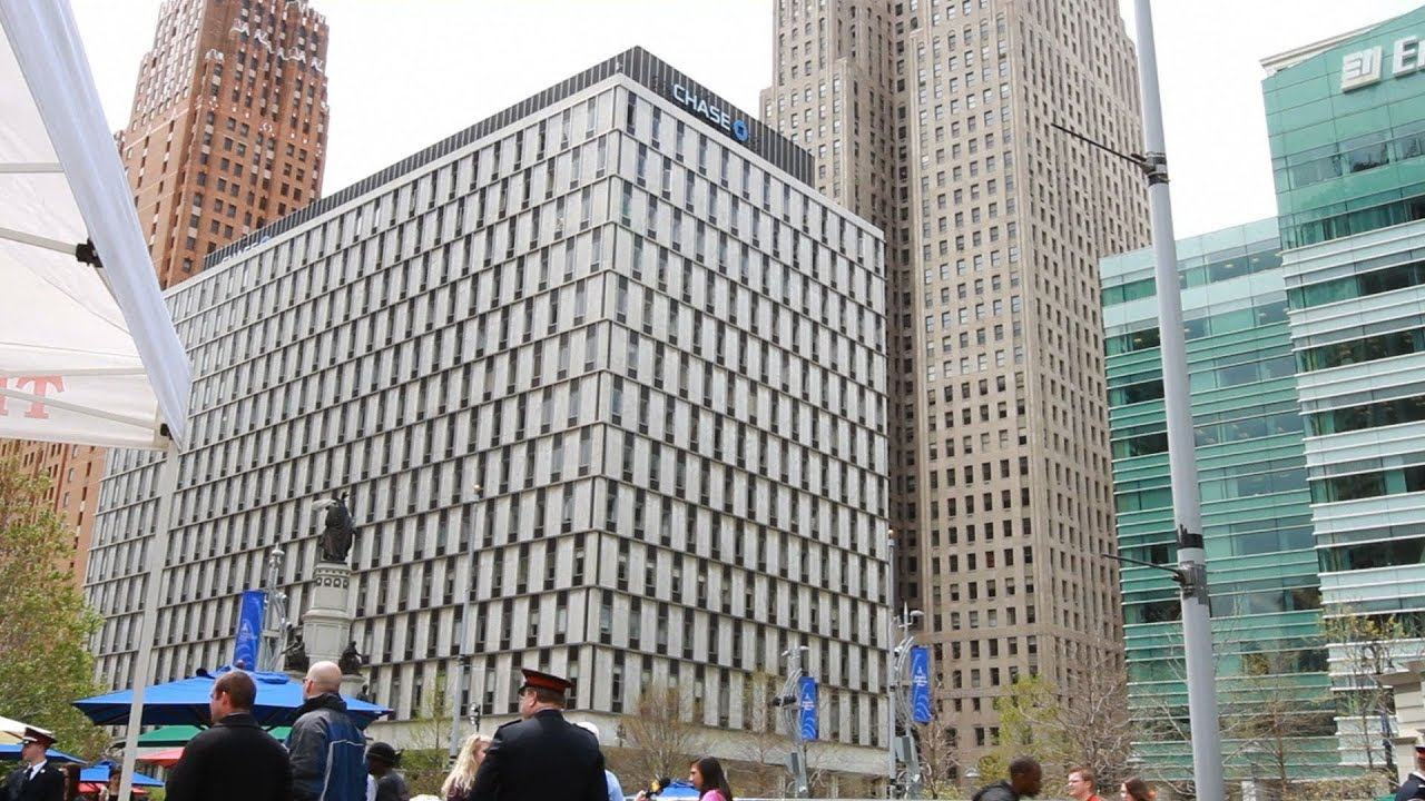 Downtown detroit the qube quicken loans building tours for How to get a building loan
