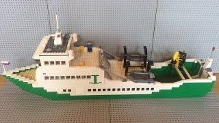 Лего паром (самоделка) / Lego MOC transport ferry