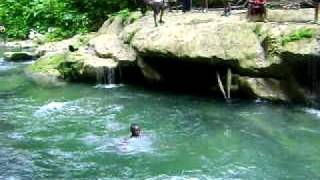 Caribbean Hiking Adventures Upper North Oropuche River , Leap of Faith #2.AVI