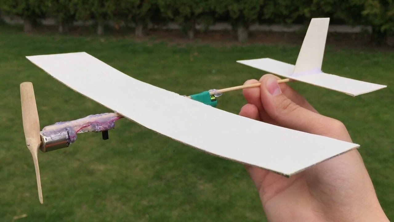 How To Make A Cardboard Plane With Electric Engine Youtube
