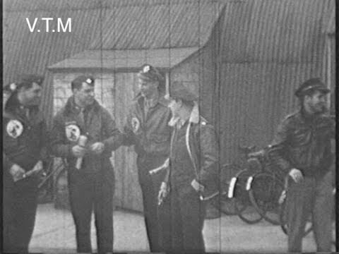 World War  Two Footage 92nd Bomb Group Podington England 1944 Airfield and Huts§