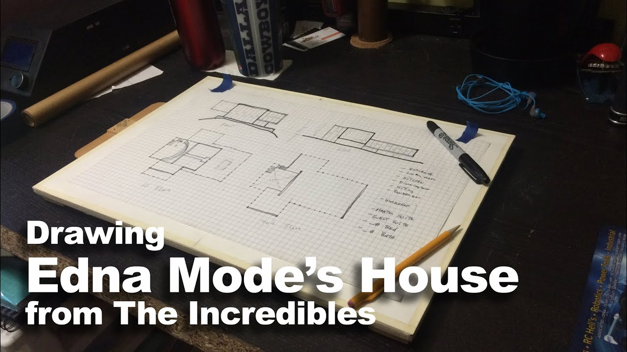 Drawing Edna Mode S House From The Incredibles Youtube