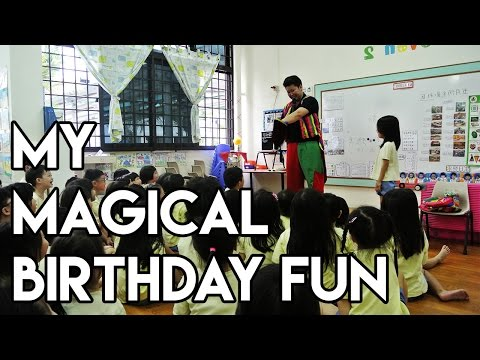 INTERACTIVE MAGIC FUN PARTY by PARTYMOJO SINGAPORE | JANEL turns 6!