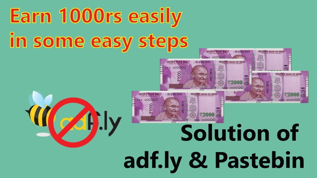 Earn 1000 rupees in just simple step | Say Goodbye to adf ly & Pastebin |  Earn Money Online | Hindi