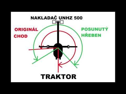 Vývážečka UNHZ 500-1(11) Oprava Otoče. Posunutí Hřebene.
