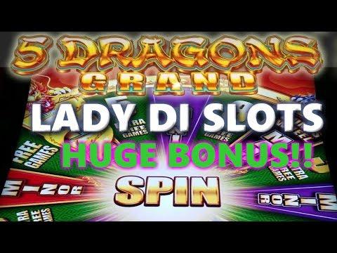 Great **5 Dragons Grand**  2 RETRIGGERS at Tampa Hard 🎸!!