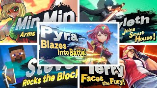 Super Smash Bros Ultimate - All Newcomers Trailers Including Pyra & Mythra