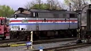 Amtrak Albany, NY Yard Ops and Shop Tour 2002