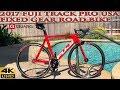 2017 Fuji Track Pro USA Fixed Gear Road Bike with Quarq Power Meter