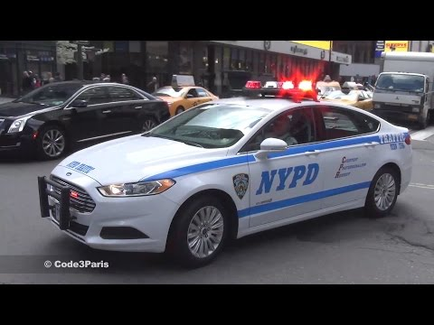 Police Cars Responding: LAPD + NYPD + Boston Police + London + Paris + Spain