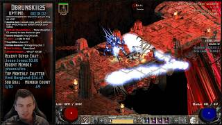 Diablo 2 - Baal Runs with the Javazon - Level 97 here we come!!  Stream Fails!!!!! 02/14/2019