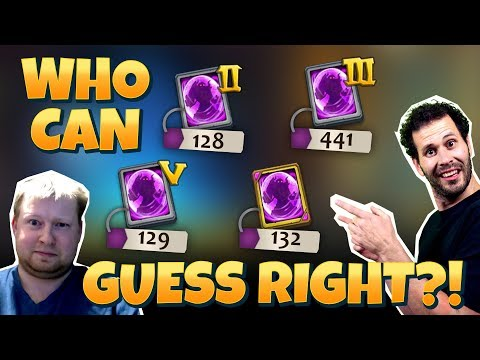 1000 Rare Hero Cards Opening Can YOU Guess Castle Clash