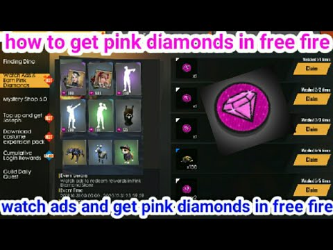 How To Get Pink Diamonds In Free Fire Watch Ads And Get Pink Diamonds In Free Fire Youtube