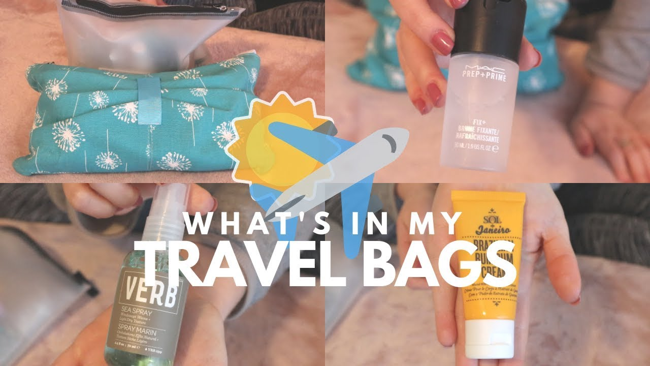 Whats In My Travel Bags Skin Care Hair Care Body Care Some Random Stuff