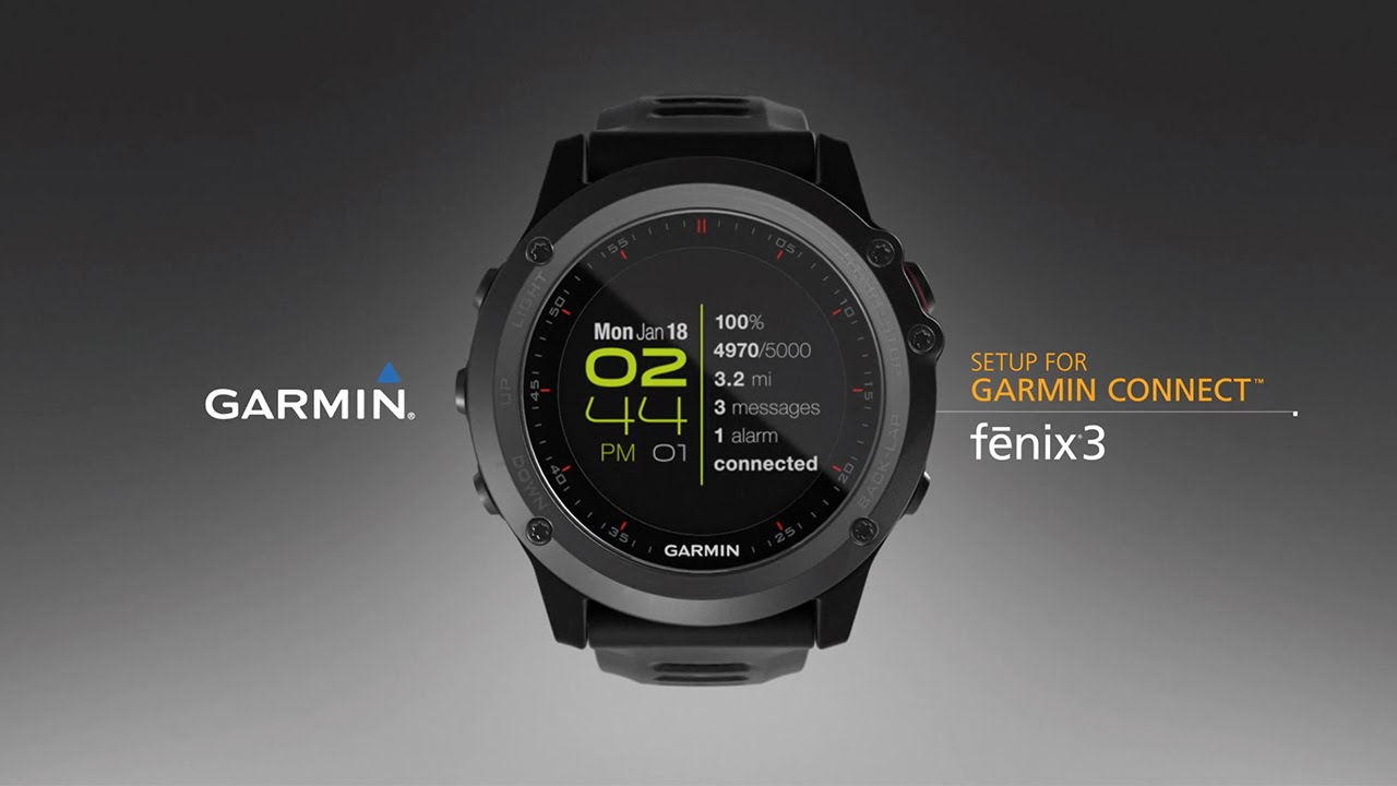 fēnix 3: Syncing Your Smartphone with Garmin Connect