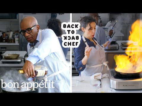 Al Roker Tries to Keep Up with a Professional Chef | Back-to-Back Chef | Bon Apptit