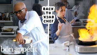 Download Al Roker Tries to Keep Up with a Professional Chef | Back-to-Back Chef | Bon Appétit Mp3 and Videos