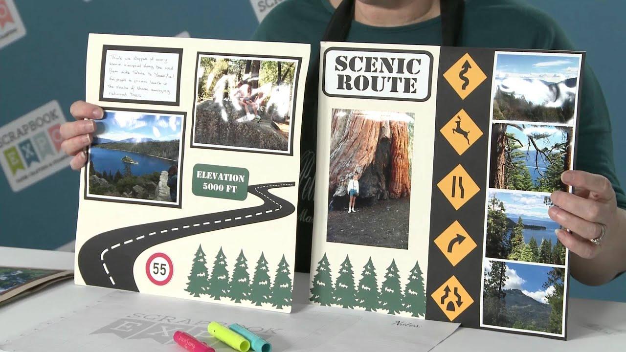 How to scrapbook a road trip - Stamp Scrapbook Expo Workshop Petticoat Parlor Road Trip