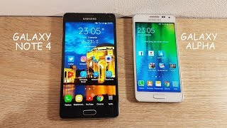 Samsung Galaxy Note 4 vs Smsung Galaxy Alpha - porównanie, comparison [60fps]
