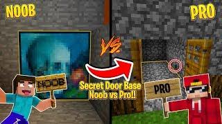 Minecraft NOOB vs PRO - SECRET DOOR CHALLENGE!!!