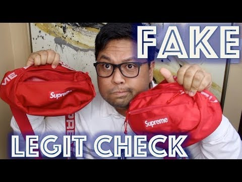 FAKE supreme SS18 waist bag fanny pack | how to authenticate | LEGIT CHECK  | docLUXURY