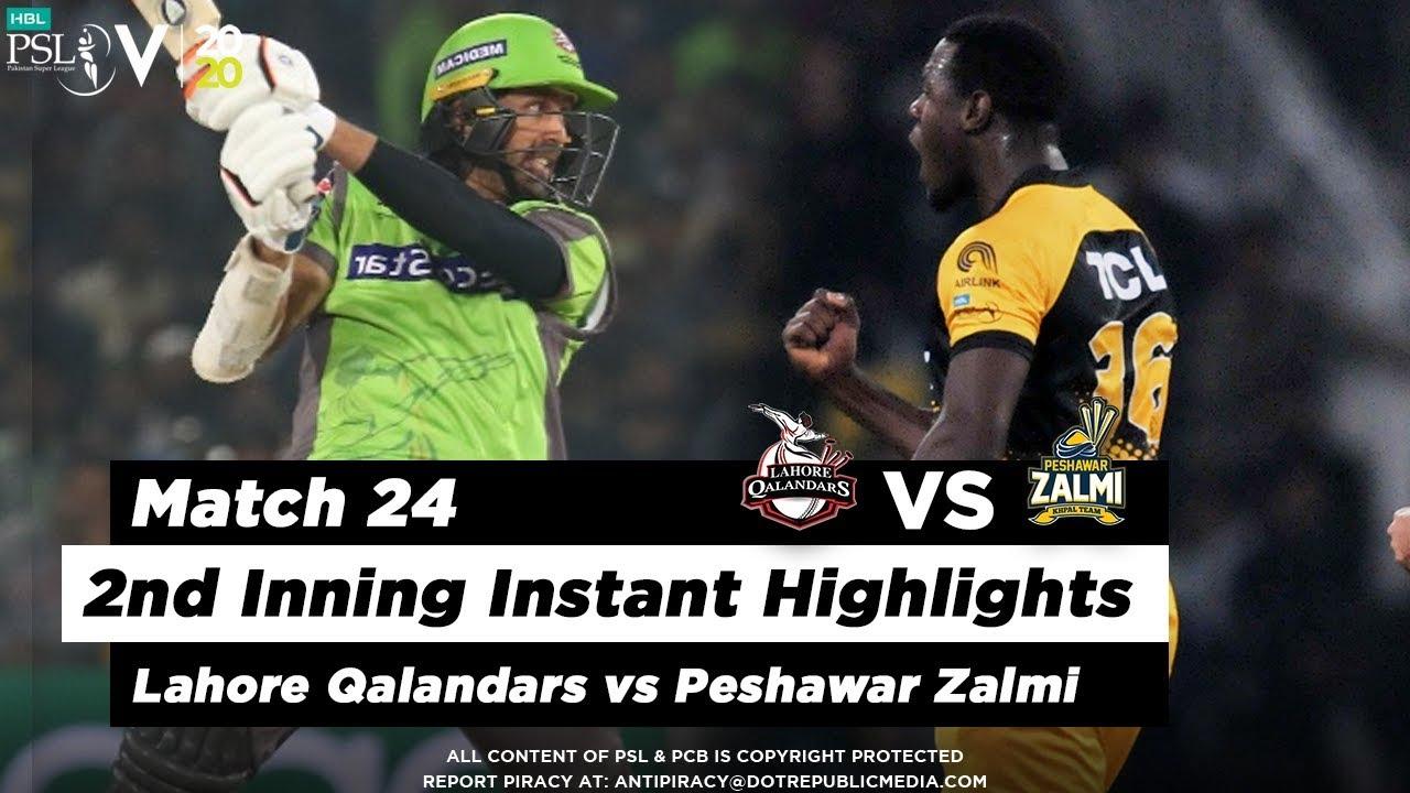 Lahore Qalandars vs Peshawar Zalmi | 2nd Inning Highlights | Match 24 | 10 March | HBL PSL 2020