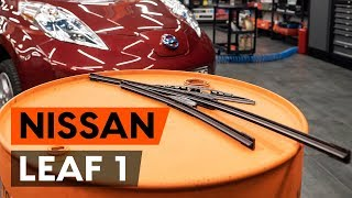 Utforsk hvordan du løser problemet med Viskerblader foran og bak NISSAN: videoguide