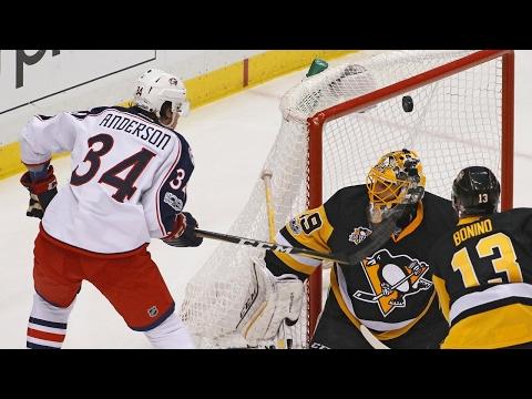 Fleury makes 49 saves, Penguins beat Blue Jackets to advance